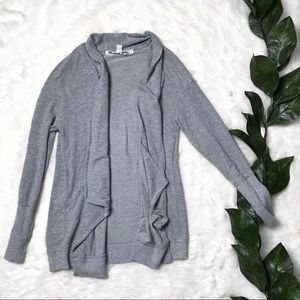 Anthro Michael Stars Grey Open Front Cardigan
